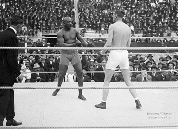 Jack Johnson et Arthur Cravan, 1916